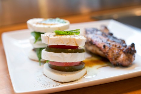 caprese with grilled chicken
