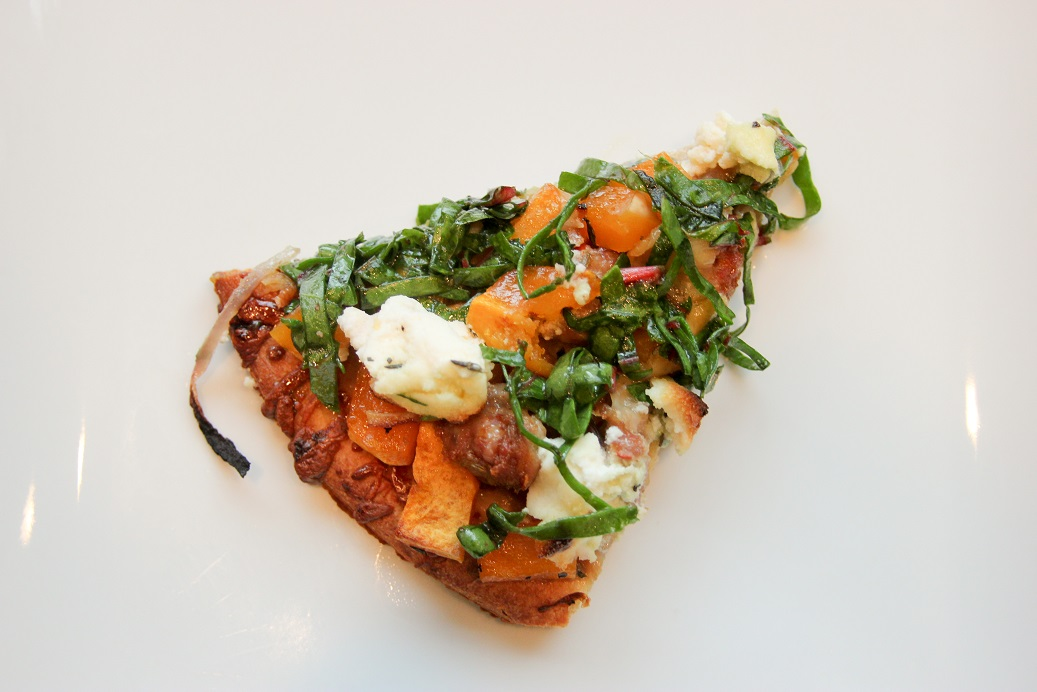 sausage, maple chard and ricotta flatbread